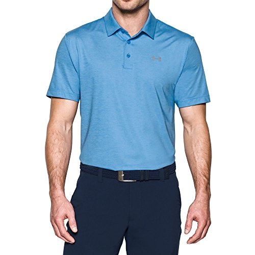 Under Armour Men's Playoff Polo, Water/Steel, ()