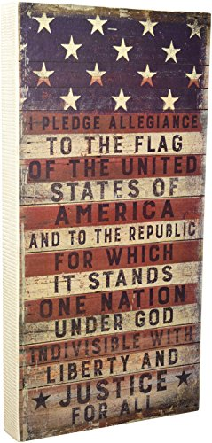 Primitives by Kathy 31558 Pledge Allegiance Box Sign - Americana Decor