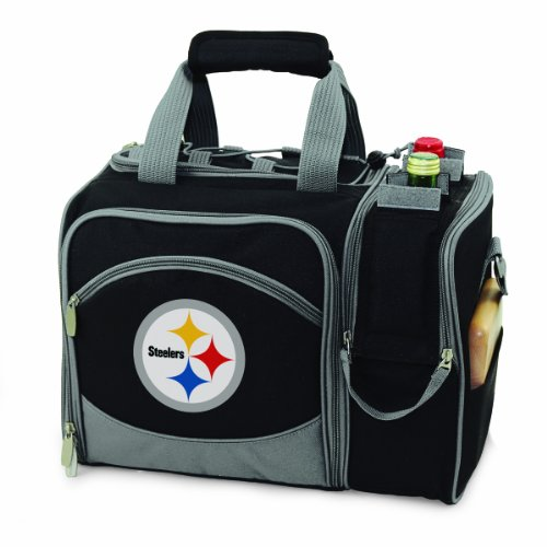 - PICNIC TIME NFL Pittsburgh Steelers Malibu Insulated Shoulder Pack with Deluxe Picnic Service for Two