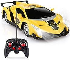 Baztoy Voiture Télécommandée, Jouet Enfants RC Voiture Rotation à 360 degrés LED Lumière 1/24 Échelle Cars Vehicule...