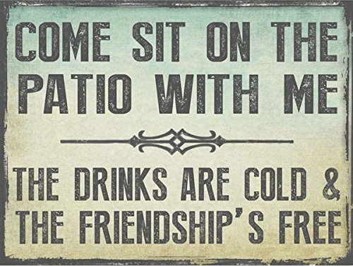 Come Sit on the Patio With Me Metal Sign, Outdoor Living, Patio Decor by HBA