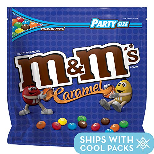 M&M'S Caramel Chocolate Candy Party Size 38-Ounce Bag -