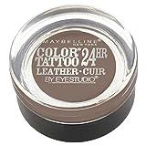 Maybelline New York Eye Studio Color Tattoo Leather 24 HR Cream Gel Eyeshadow, Creamy Beige, 0.14 Ounce