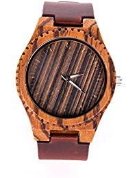 Ultribe Wooden Watch for Men with Japanese Quartz Movement Luminous Pointer Leather Strap Lightweight Vintage...