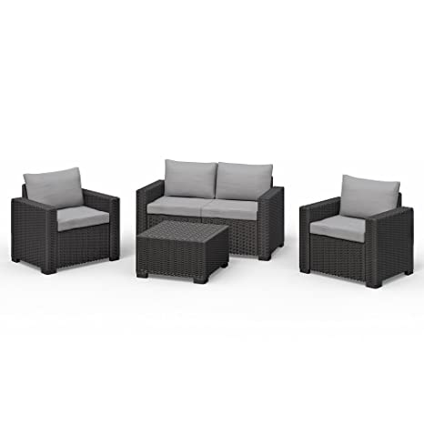 Allibert California Mobilier de jardin en polyrotin Lounge ...