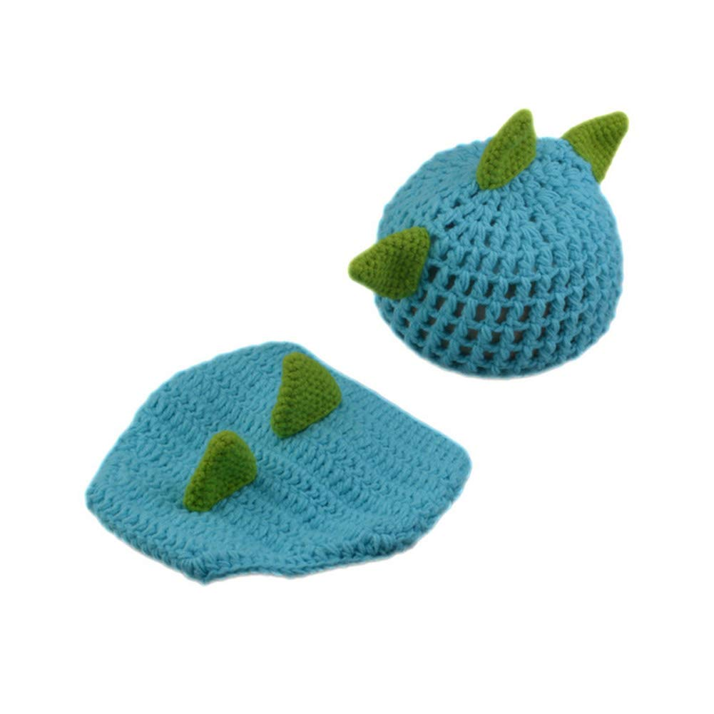 Aru Newborn Photography Props Crocheted Baby Boy Dinosaur Outfit Photo Props