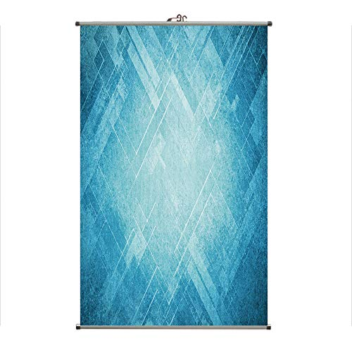iPrint Wall Hanging Picture Wall Scroll Poster Fabric Painting,Striped Faded Geometric Pattern Angles and Lines,3D Print Design Personality Customization Make Your Room unique23.6 X27.6 -