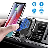 Baseus Wireless Car Charger Mount, 10w Automatic Clamping Air Vent Qi Fast Charging Car Phone Holder Compatible with iPhone Xs/Xs Max/XR/X, Galaxy Note 9/ S9/ S9+ & Other Qi-Enabled 4.7-6.5Inch