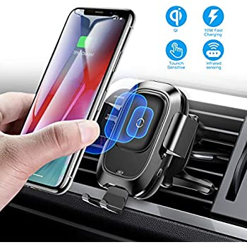 10W//7.5W//5W Compatible with iPhone Xs//XS Max//XR//X//8//8 Plus Samsung Galaxy Note 9//S9//S9+//8//S8//S8+-Black NBLINER Wireless Fast Car Charger Universal Qi Phone Holder Air Vent and Dash Mount Black