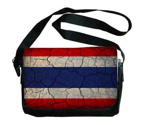 Thailand Flag Crackledデザインメッセンジャーバッグ   B00FMFO13U