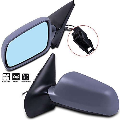 Mirror Side Volkswagen Golf - ECCPP Door Mirrors Driver Left Passenger Right Side fit for 1999-2006 1999-05 Volkswagen Golf 1999-2005 VW Jetta 2006 Jetta Wagon 07-10 Jetta Sedan Power Adjusted Heated Manual Folding Pair Mirrors