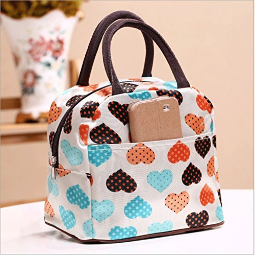 (Cafurty Cute Love Heart Lunch Bag Tote Bag Lunch Organizer Lunch Holder Lunch)