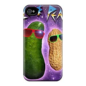 Shockproof Cell-phone Hard Covers For Iphone 4/4s (UBq14813EnFF) Allow Personal Design High Resolution Red Hot Chili Peppers Image