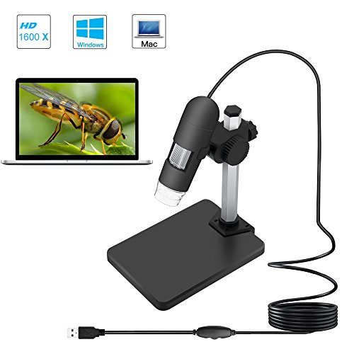 USB 2.0 Digital Microscope, DEPSTECH 1 to 1200X Magnification Endoscope, 5X Zoom Mini Inspection Camera with 8...