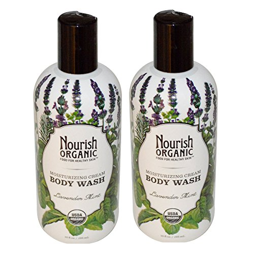 Nourish Organic Body Wash with Lavender and Mint Extracts ,10 fl. oz. (Pack of 2)