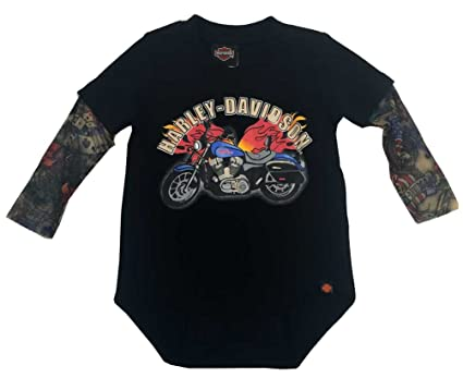 Amazon.com: Harley-Davidson Baby Boys' Motorcycle Infant Creeper w