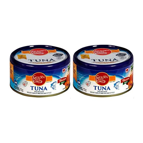 Golden Prize Tuna Salad with Vegetables Meican Style 185Gms Each - Pack of 2 Units