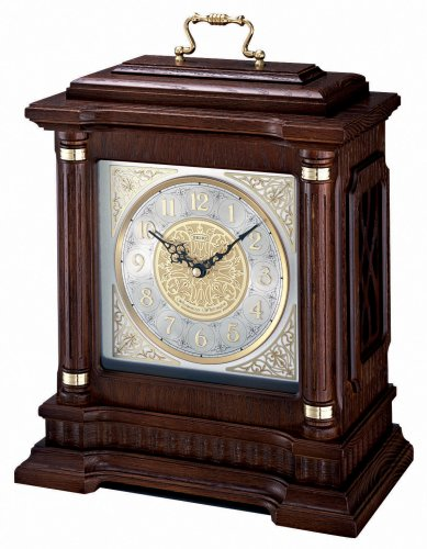Seiko Mantel Chime Carriage Clock with Hand-Rubbed Finish
