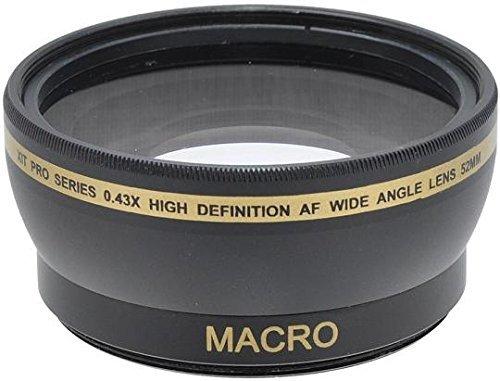 Xit 52mm 0 43x Wide Angle Lens For Nikon D5500 D5300 D5200 D5100 D5000 D3300 D3200 D3100 D3000 D90 D60 18-55mmの商品画像