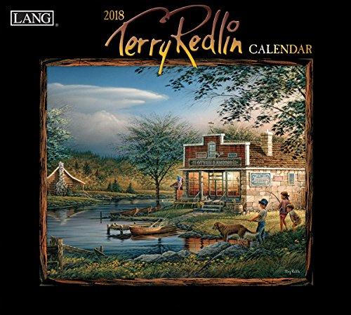 """LANG - 2018 Wall Calendar - """"Terry Redlin"""", Artwork By Terry Redlin - 12 Month: Open Size, 13.34"""" X 24"""""""