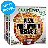 CAULIPOWER Margherita Cauliflower Crust Pizzas, Gluten Free, Non-Gmo, Lower Carb (4 Pack)