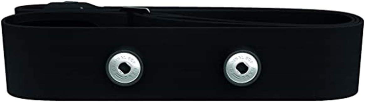 QLJ Cinturón de monitoreo de frecuencia cardíaca Deportes al Aire Libre Cinturón de Tela Suave Cinturón Conductor de frecuencia cardíaca Se Puede Personalizar - Negro