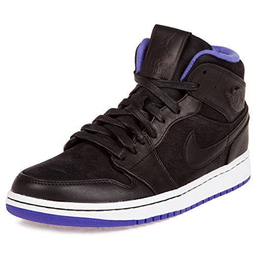 Nike Air Jordan 1 Mid Nouveau Men's Shoes Black/Dark Concord/White 629151-018 (SIZE: 11) (Jordan 11 Concord Shoes)