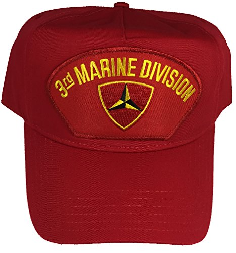 3RD MARINE DIVISION HAT - RED - Veteran Owned Business (Hat Marine Division)