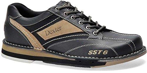 Dexter Men's SST 6 LZ Bowling Shoes, Black/Stone, 13