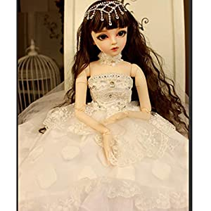 1/3 BJD Doll Set with Wig Clothes Shoes Makeup Fashion 24 Inch/60CM SD Doll 18 Ball Jointed Action Figure Model DIY Toy