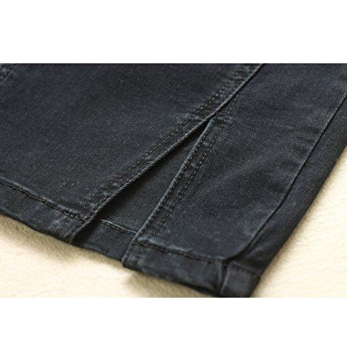 Black Classique Haute pour Droite Noire Femme Cowboy Taille Jupe Crayon Jupe xqwTpnv
