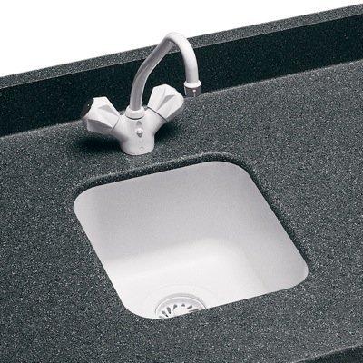Swanstone US-1210037 Bone Entertainment / Bar Sink Undermount 13.5'' W x 15.5'' L