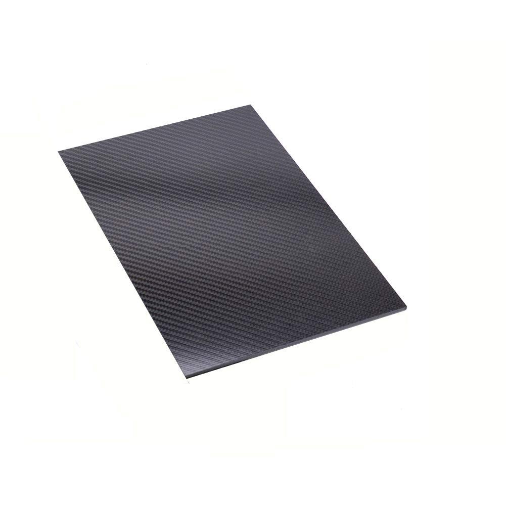 LIUHUA 3K Full Carbon Fiber Sheet - Twill Weave Matte Surface-250x600mm-2mm by LIUHUA