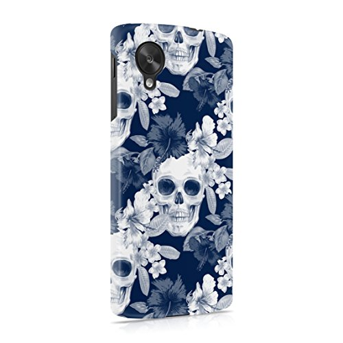 Tropical Floral Pirate Skulls Pattern Indie Hype Hipster Rad Tumblr Plastic Phone Snap On Back Case Cover Shell For LG Google Nexus 5