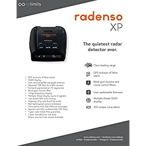 Radenso XP Radar Detector with GPS Lockout and Red Light/Speed Camera Voice Alerts