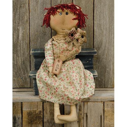 CWI Gifts Millie Doll with Flowers, 7'' x 21.5'', Multicolor
