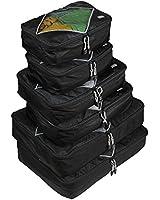 Rusoji Premium Packing Cube System - 6pc Various Size Set