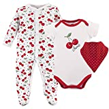 Hudson Baby Baby Multi Piece Clothing Set, Cherries 3, 6-9 Months (9M)