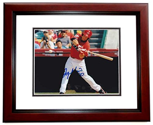 Logan Morrison Signed - Autographed Team USA - Florida Marlins 8x10 inch Photo MAHOGANY CUSTOM FRAME ()