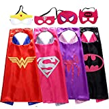 Easony Outdoor Toys 3-10 Year Old Girls, Fun Cool Super Hero Capes Costumes Kids Christmas Birthday Presents Gifts 3-10 Year Old Girls Halloween ESUKGP04
