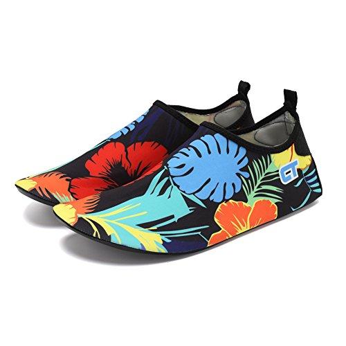 CIOR Männer Frauen und Kinder Barfuß Haut Schuhe Rutschfeste Wasser Schuhe Für Strand Pool Surf Yoga Übung Blume 02