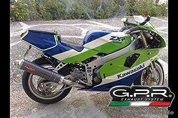 Classic Line Carbon Rund Kawasaki ZXR 400 R GPR Endschalldampfer Auspuff
