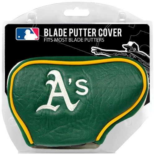Team Golf MLB Oakland Athletics Golf Club Blade Putter Headcover, Fits Most Blade Putters, Scotty Cameron, Taylormade, Odyssey, Titleist, Ping, Callaway