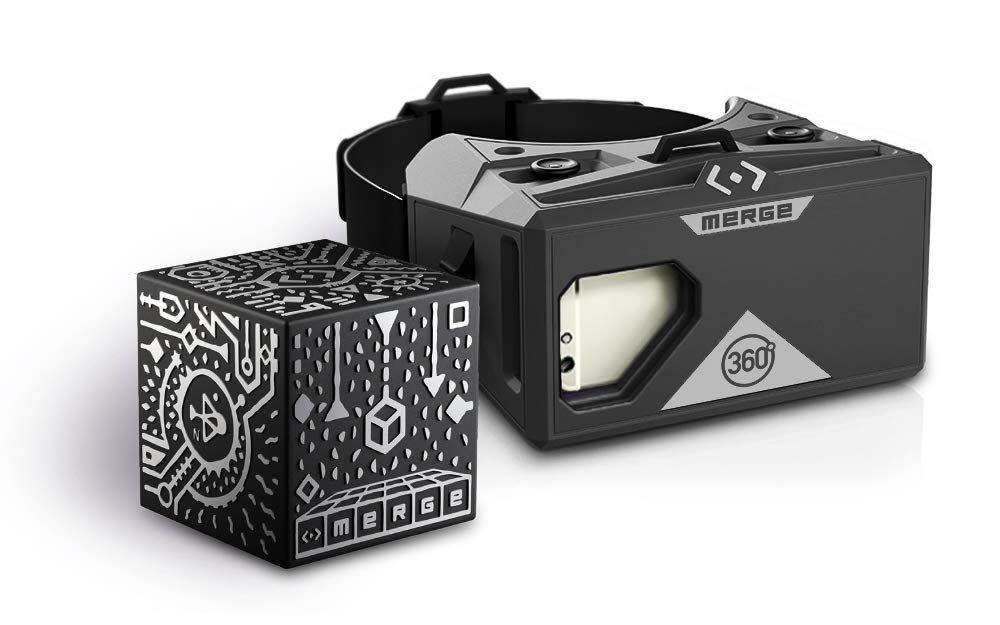 MERGE Cube and VR Headset Bundle for Augmented Reality and Virtual Reality, STEM Learning and Educational Games by MERGE