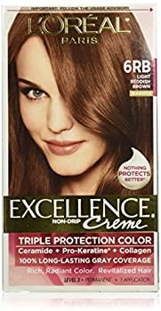 Exc H/C Red Brn #6rb R Size 1ct L'Oreal Excellence Creme Hair Color Light Reddish Brown #6rb