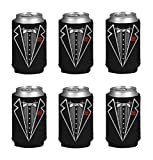 Gifts Infinity Groom, Bestman, Groomsman, Bachelor Party Tuxedo Can Kaddy Holder Cooler 6-Pack