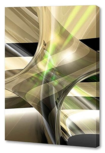 Menaul Fine Art ''Rebirth'' Limited Edition Artwork, 16 x 24'', Black/White/Brown/Gray/Taupe/Beige/Green/Lime Green by Menaul Fine Art