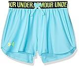 Under Armour Kids Girl's Play Up Shorts (Big Kids) Venetian Blue/Academy/High-Vis Yellow X-Small