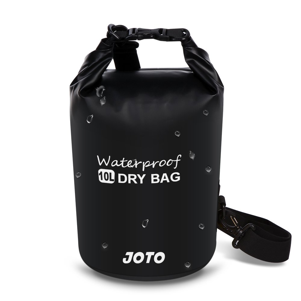 (10L - Black) - Dry Bag Sack Backpack 10L - JOTO Waterproof Dry Bag for Outdoor Activities - Perfect for Boating, Kayaking, Fishing, Rafting, Hiking, Swimming, Floating, Camping [ 10L Floating Dry Bag ] (Black)  ブラック B016OC59V2