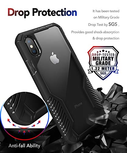 MOBOSI Vanguard Armor Designed for iPhone X Case/iPhone Xs Case, Rugged Cell Phone Cases, Heavy Duty Military Grade…